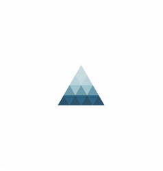 triangle symbol design inspiration vector image