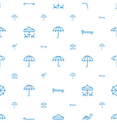 umbrella icons pattern seamless white background vector image