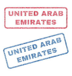 United arab emirates textile stamps vector