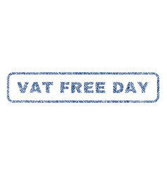 Vat free day textile stamp vector