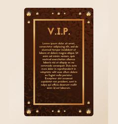 Vip party invitation certificate vector