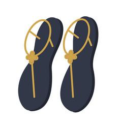 Women summer sandals flat vector
