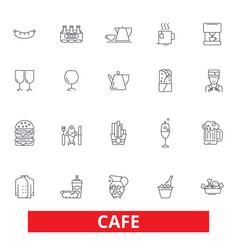 cafe coffee shop street restaurant cafeteria vector image vector image