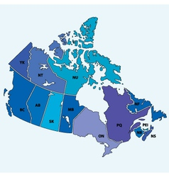 canadian map vector image