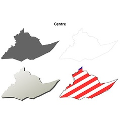 Centre Map Icon Set vector image vector image