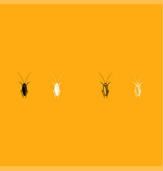 cockroach it is white icon vector image