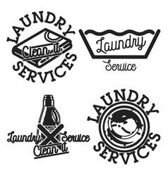 color vintage laundry services emblems vector image