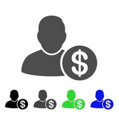 Loan user flat icon vector