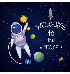 Space Universe Poster vector image vector image
