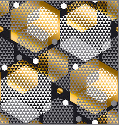 gold and gray color creative repeatable motif with vector image vector image