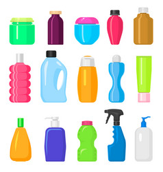 household cleaning tidying up housework bottles vector image vector image