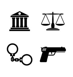 Law justice simple related icons vector