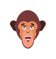 Monkey happy emoji marmoset merry emotion vector