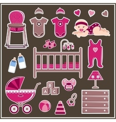Set for a little girl vector image vector image