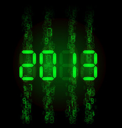 set of digital numbers - twenty thirteen for vector image