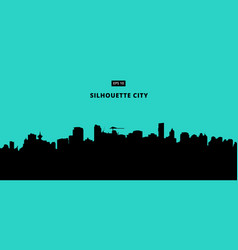 silhouette city on blue background the flat vector image