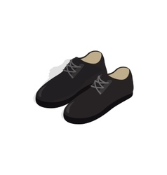 Black male shoes con isometric 3d style vector image vector image