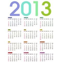calendar 2013 2 vector image