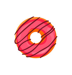 donut set with sprinkles isolated on white vector image