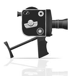 old retro vintage movie video camera 05 vector image vector image