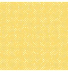 Seamless polka dot yellow pattern with circles vector image