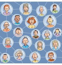 Seamless social network vector image vector image