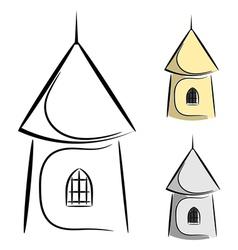 0cartoon castle tower eps10 vector