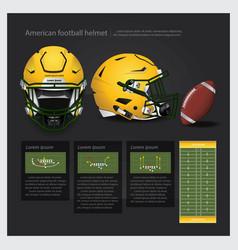 american football helmet with team plan vector image