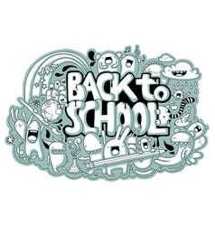 Back to school doodle vector
