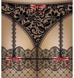 black lace lingerie vector image