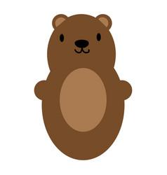 brown bear toy icon symbol vector image