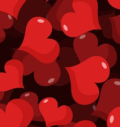 Love 3D seamless pattern Red heart background vector image vector image