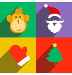 New Year monkey vector image vector image