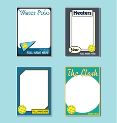 Water Polo Cards vector image vector image