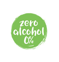 Alcohol free label icon zero icon vector
