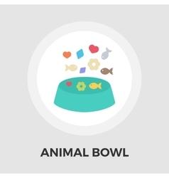 Animal Bowl Flat Icon vector