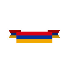 armenia flag ribbon isolated armenian tape banner vector image