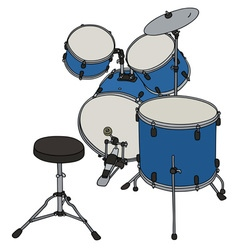 Blue percussion set vector