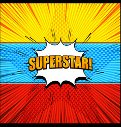 bright comic super horizontal banners vector image