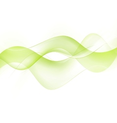 Bright green waves vector