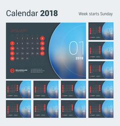 calendar for 2018 year design print vector image