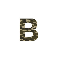 camouflage logo letter b vector image