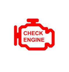 Check engine car symbol vector