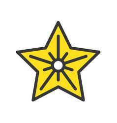 christmas star christmas related style design vector image