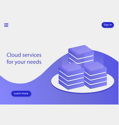 cloud services for your needs cloud data storage vector image