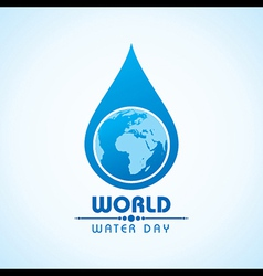 Creative World Water Day Greeting vector image