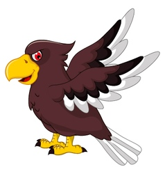 Cute Eagle cartoon flying vector image