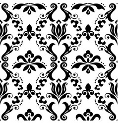 damask seamless textile or farbic pattern vector image