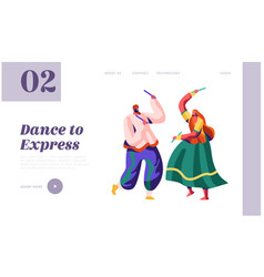 dancer woman dancing on national ceremony vector image