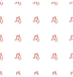 download music icon pattern seamless white vector image
